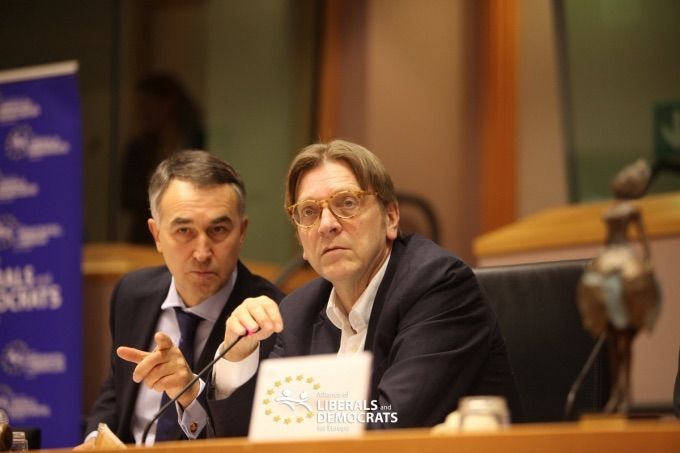 Petras Austrevicius and Guy Verhofstadt